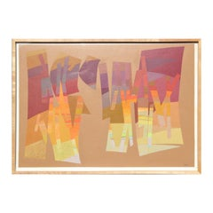 """""""Cotopaxi"""" Colorful Warm Toned Geometric Abstract Painting"""