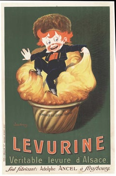Original Levurine French vintage poster, full lithograph