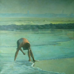 On The Beach, Painting, Oil on Canvas