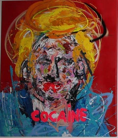 """COCAINE"" Mixed media Painting 39x32 inch by John Paul Fauves"