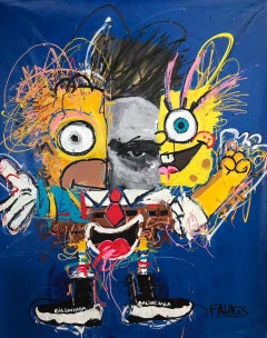 """James BOB"" mixed media painting by John Paul Fauves"