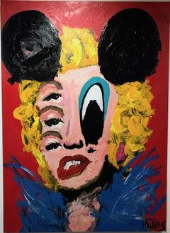 """John Paul Fauves """"Mickey Marilyn"""" mixed media on canvas"""