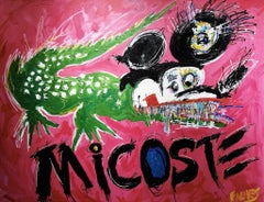 """Micoste"" mixed media painting 62"" x 82"" in by John Paul Fauves"