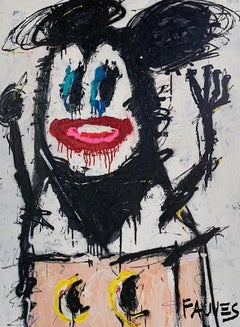 """RAT HOLE"" Mixed media Painting 49x36 inch by John Paul Fauves"