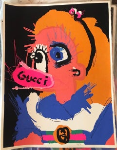 """Alice"" Silkscreen print 39"" x 28"" inch Edition 37/50 by John Paul Fauves"
