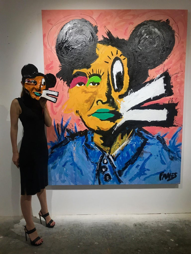 One of a kind collectible mask by John Paul Fauves  Acrylic over paper mache  John Paul Fauves (born in 1980) is a contemporary Artist from Costa Rica . His artistic journey started at a very young age after he became a student of Joaquin Rodriguez
