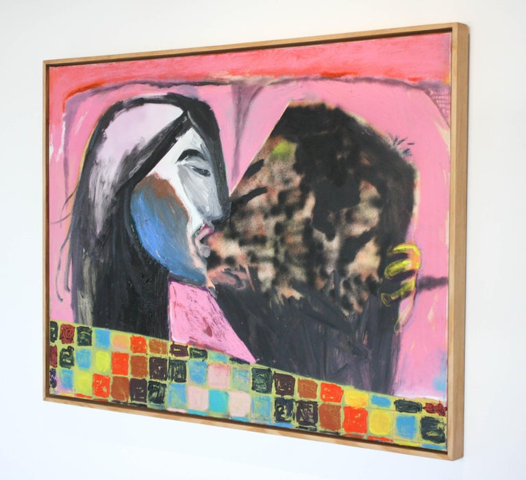 Quilted Kiss  - Painting by John Paul Kesling