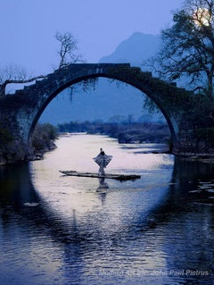 """CiCi's Moon River - 20x24"""", China, Guilin, Poetic landscape photography"""