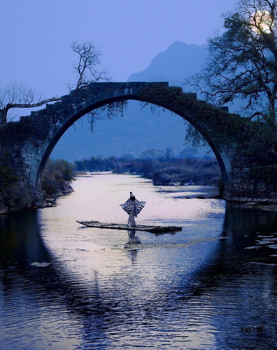 Photograph - CiCi's Moon River - framed