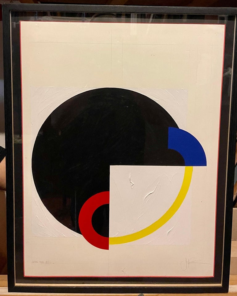 Hard Edged Abstract Geometric Mod Painting For Sale 1