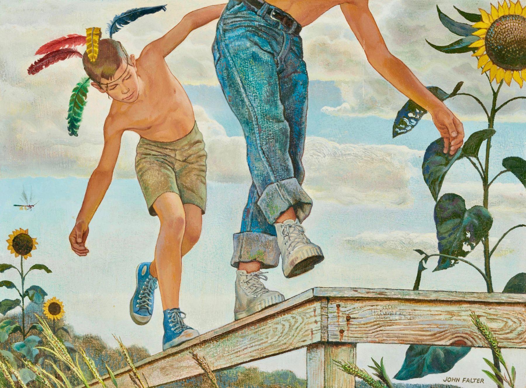 Boys on a Fence, Preliminary Work for Johnson & Johnson Ad