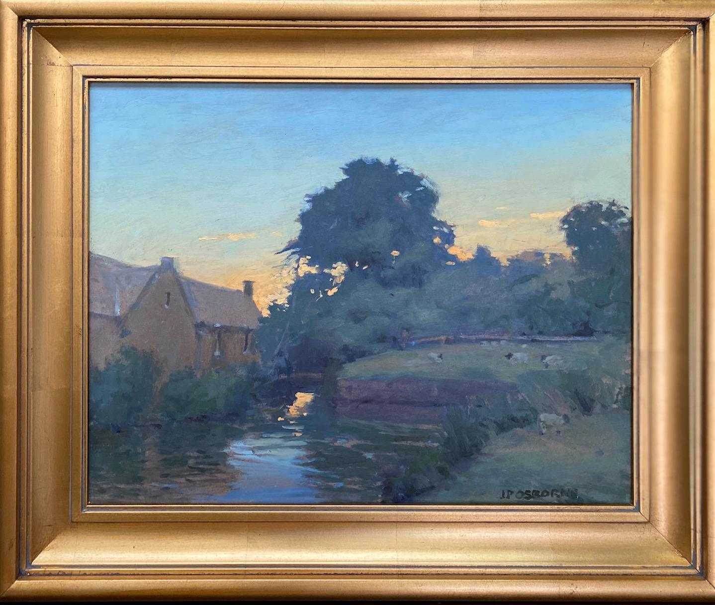 Evenings in the Cotswolds, original impressionist English landscape
