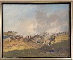 Fight for Freedom, Bunker Hill, original 24x30 historic impressionist landscape