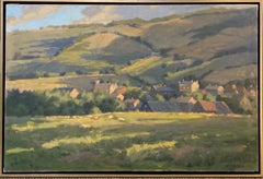 Overlooking Winchcomb, Cotswolds, original 24x36 impressionist English landscape