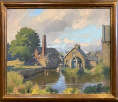 The Mill, First Slaughter, original impressionist English landscape