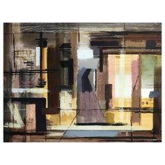 John Piper, Abstract, Landscape, Tetbury, 1957, Watercolor, Gouache, Pastel