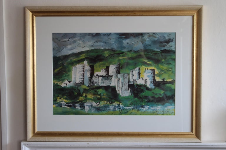 John Piper 'Kidwelly Castle' Lithograph In Good Condition In Petworth, West Sussex