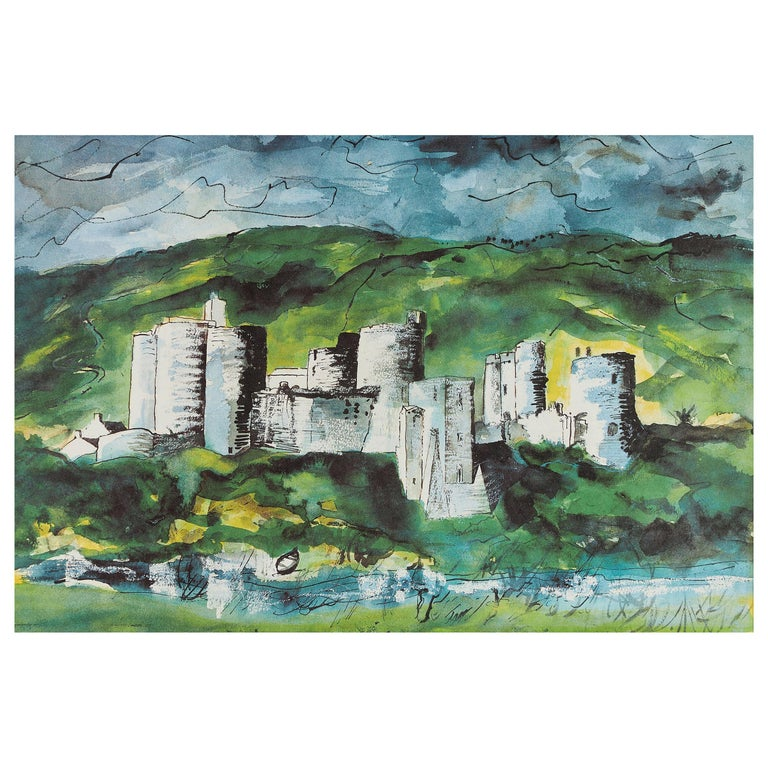 John Piper 'Kidwelly Castle' Lithograph