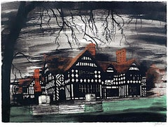 John Piper, Wightwick Manor, Screenprint Modern British Art Victorian Dream