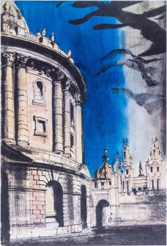 Radcliffe Camera, University of Oxford lithograph John Piper