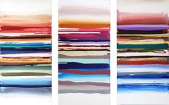 Go multi colors striped horizontal painting
