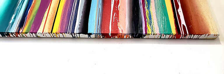 Upper Fifth - striped Morris Louis style For Sale 5