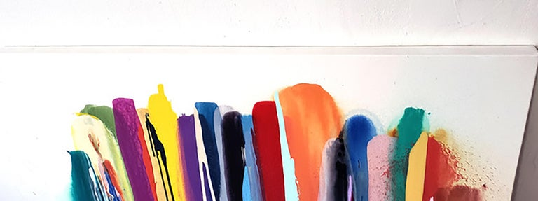 Upper Fifth - striped Morris Louis style For Sale 6