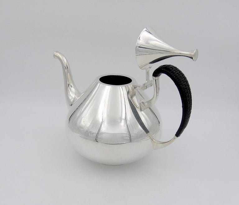 American John Prip Midcentury Dimension Coffee Pot for Reed & Barton For Sale