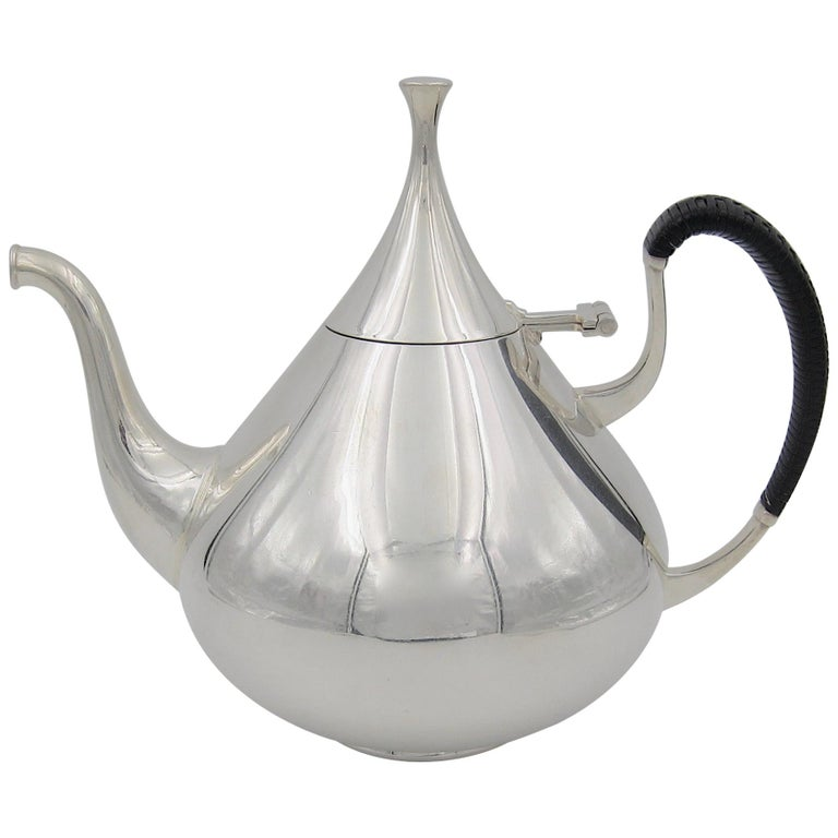 John Prip Midcentury Dimension Coffee Pot for Reed & Barton For Sale