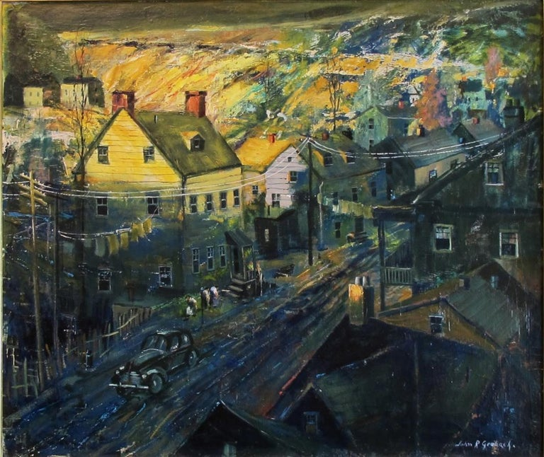 """""""Evening in Newark"""" - Painting by John R. Grabach"""