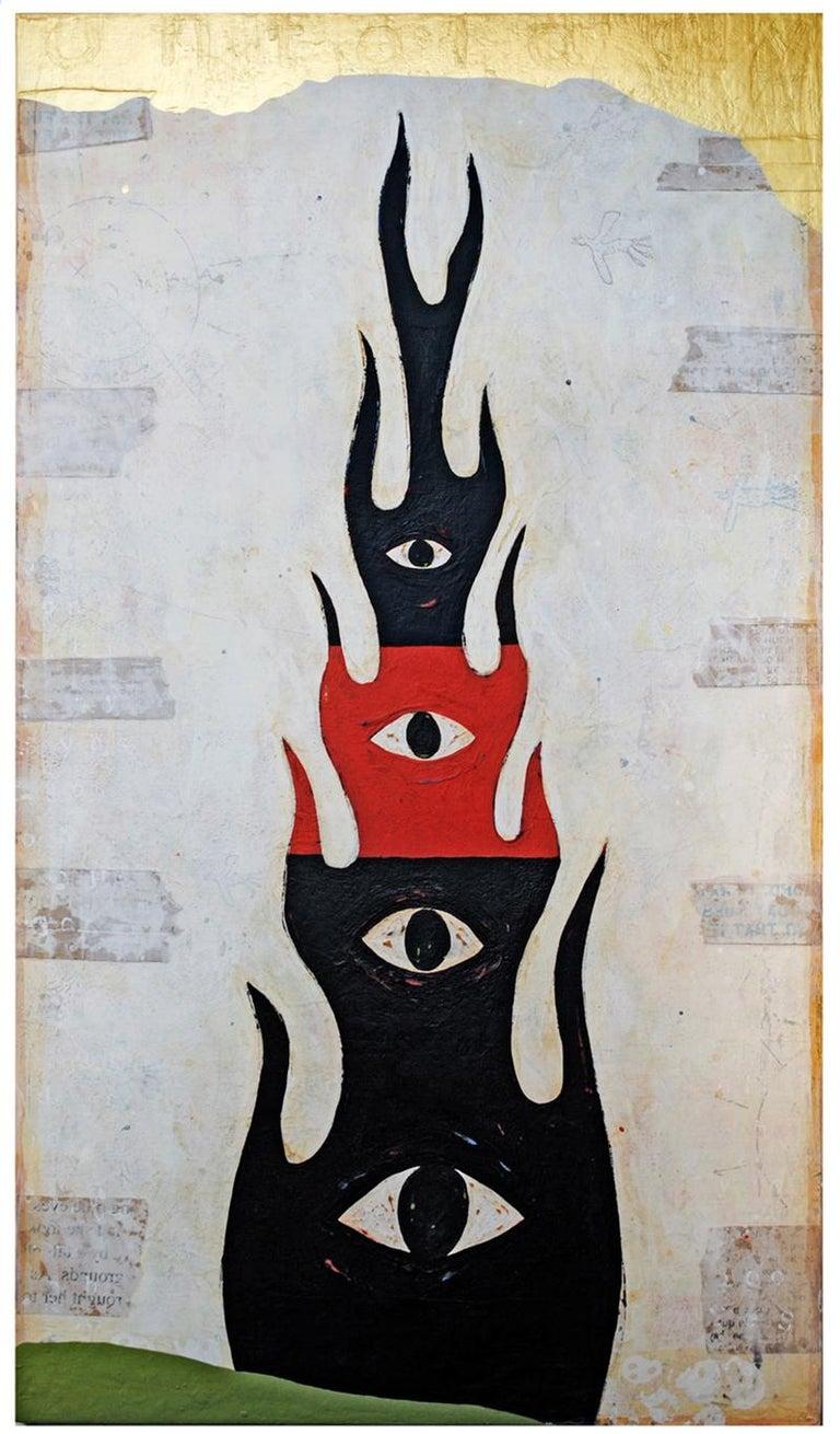 John Randall Nelson Abstract Painting - Ontology