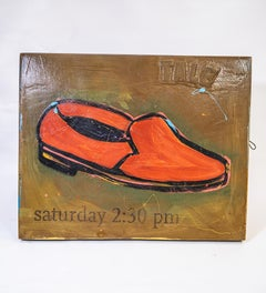 Shoe #22, Red Retro Shoe Painting by John Randall Nelson