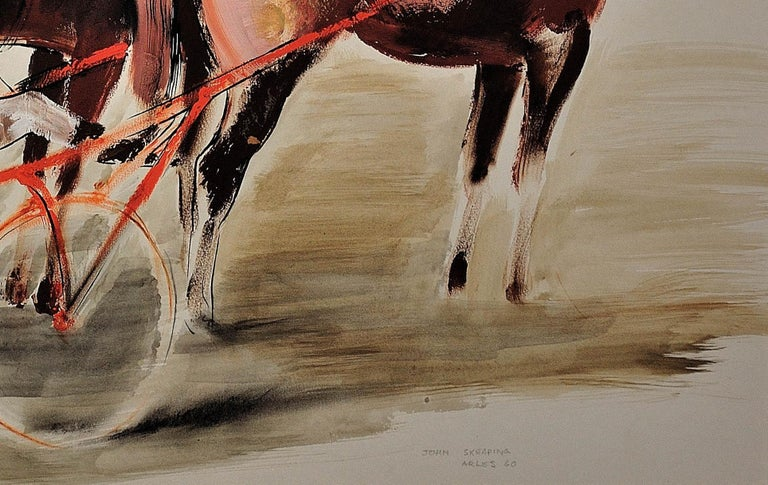 Harness Racing, Arles, France, 1960. Equine.Sulky. Driver.Jockeys. Racehorses. For Sale 8
