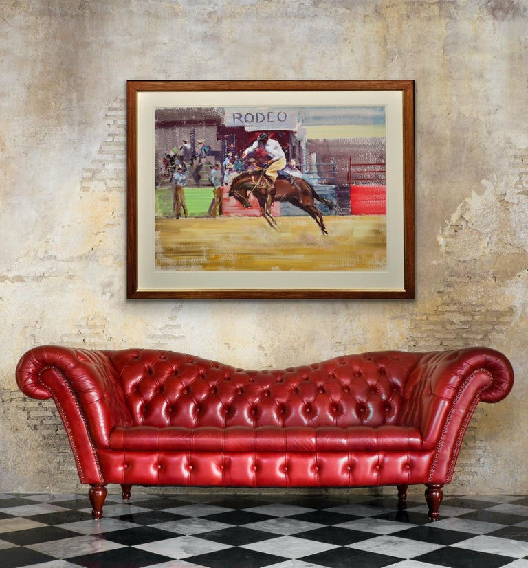 Rodeo. Bareback Bronco. Mid 20th Century. 1966. Western Cowboy Ranch Equestrian. For Sale 5