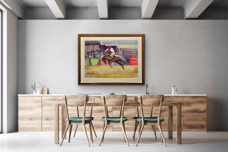 Rodeo. Bareback Bronco. Mid 20th Century. 1966. Western Cowboy Ranch Equestrian. For Sale 7