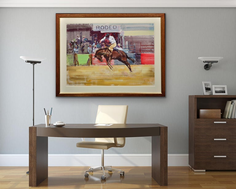 Rodeo. Bareback Bronco. Mid 20th Century. 1966. Western Cowboy Ranch Equestrian. For Sale 9