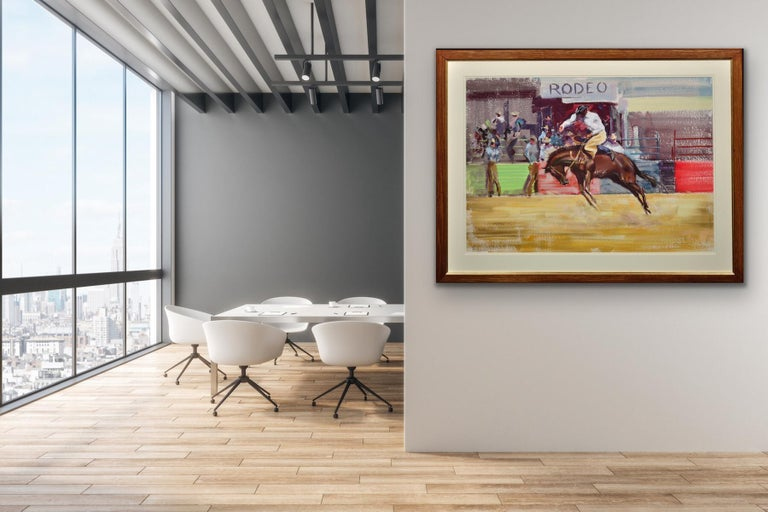 This original gouache on Arches paper painting by John Rattenbury Skeaping dated 1966 is presented and supplied in a new contemporary frame (which is shown in these photographs), a new mount, conservation materials and non-reflective Tru Vue