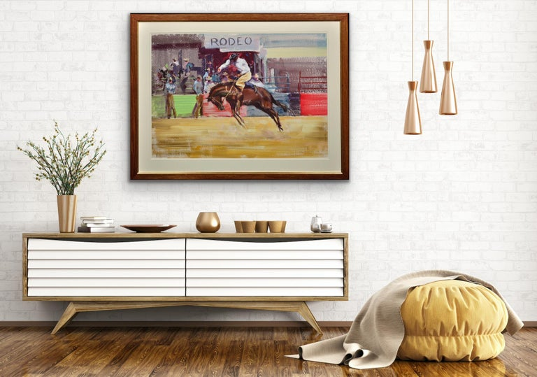 Rodeo. Bareback Bronco. Mid 20th Century. 1966. Western Cowboy Ranch Equestrian. For Sale 2