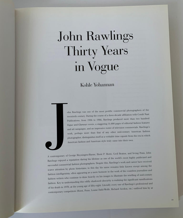 John Rawlings 30 Years in Vogue First Edition Book In Good Condition For Sale In Stamford, CT