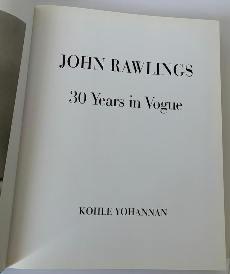 20th Century John Rawlings 30 Years in Vogue First Edition Book For Sale