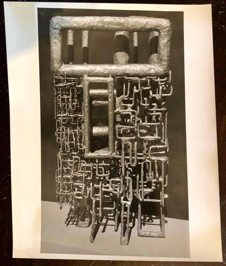 John Reed Black and White Photograph - Vintage Silver Gelatin Photo of Ibram Lassaw Modernist Sculpture (Photograph)