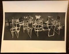 Vintage Silver Gelatin Photo of Ibram Lassaw Modernist Sculpture (Photograph)