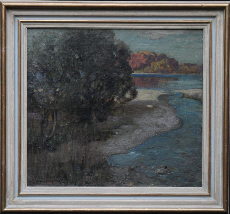 Loch Lomond - Scottish Impressionist art Glasgow Boys landscape oil painting  For Sale 6