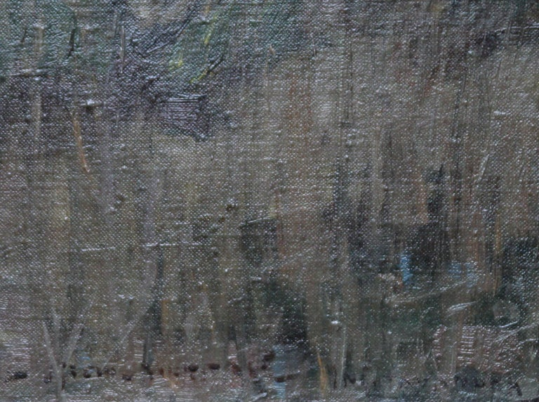 Loch Lomond - Scottish Impressionist art Glasgow Boys landscape oil painting  For Sale 3