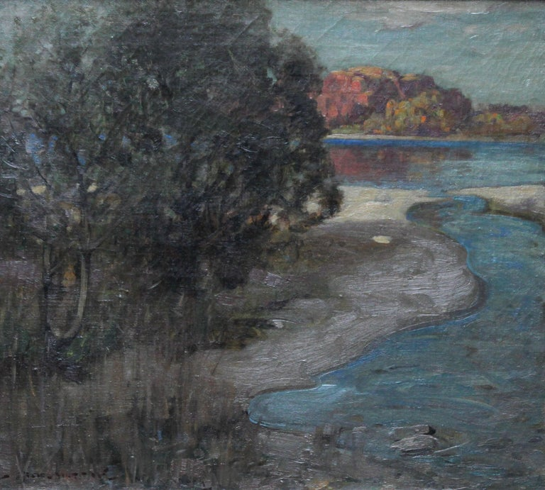 Loch Lomond - Scottish Impressionist art Glasgow Boys landscape oil painting  For Sale 5