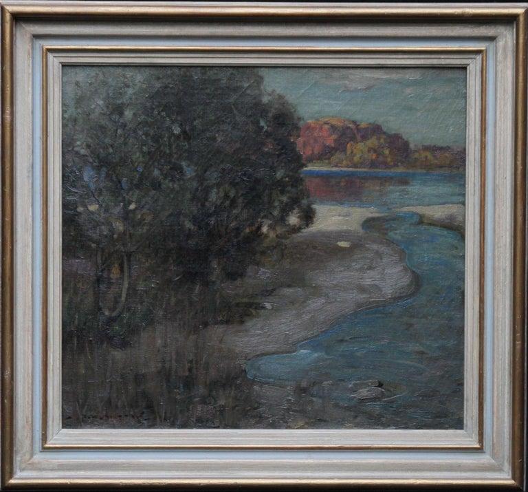 John Reid Murray Landscape Painting - Loch Lomond - Scottish Impressionist art Glasgow Boys landscape oil painting