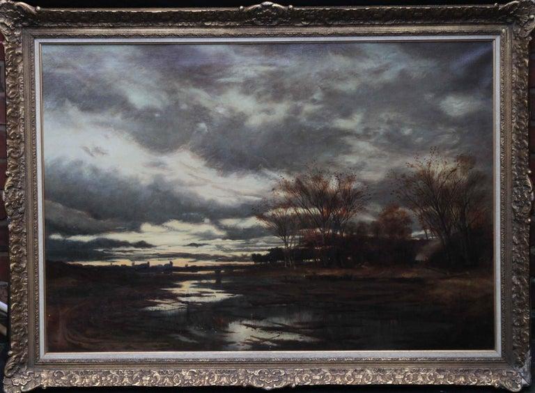Sunset after Rain - Scottish 19th Century art Glasgow Boy landscape oil painting For Sale 10