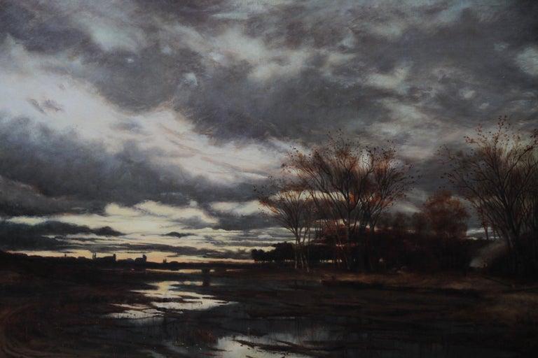 Sunset after Rain - Scottish 19th Century art Glasgow Boy landscape oil painting For Sale 2