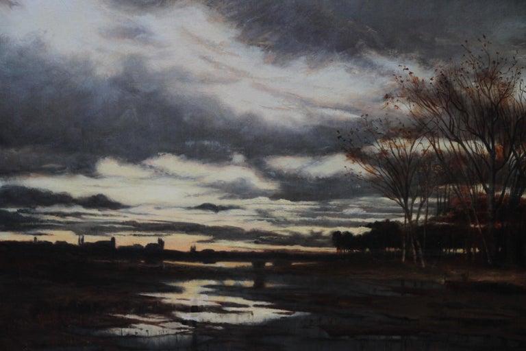 Sunset after Rain - Scottish 19th Century art Glasgow Boy landscape oil painting For Sale 3
