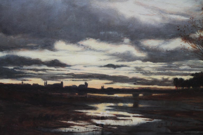 Sunset after Rain - Scottish 19th Century art Glasgow Boy landscape oil painting For Sale 5
